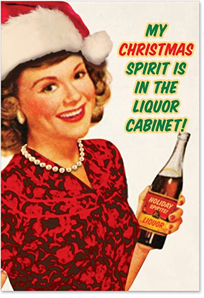 Christmas Liquor.12 Spirit Boxed Christmas Cards With Envelopes 4 63 X 6 75 Inch Holiday Booze Christmas Cards Funny Vintage Inspired Christmas Notes Alcoholic