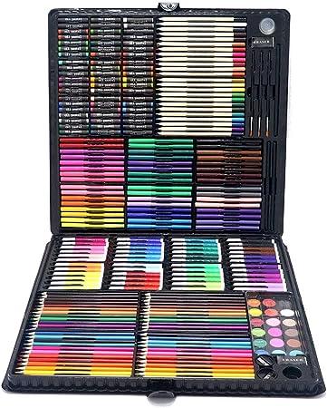 Zjcpow Estuches de Dibujo del Arte Kit de Arte, Surtido, Kit de Arte, Suministros para Artistas, Profesionales y Principiantes. para Niños (Color : Black, Size : Free Size): Amazon.es: Hogar