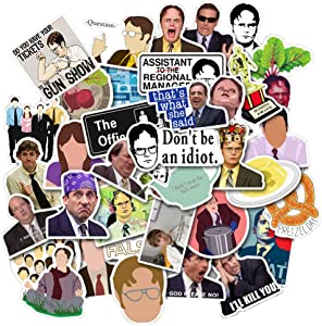 The Office Stickers Pack of 50 Office LaptopThemed Stickers, The Office Stickers for Water Bottles, Micheal Scott, Funny Laptop Decals, Hydro Flask Stickers (The Office)