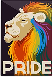 product image for Lantern Press Gay Pride - Lion 78381 (6x9 Aluminum Wall Sign, Wall Decor Ready to Hang)