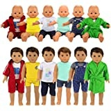 BARWA Boy Doll Clothes 6 Sets Boy Doll Clothes Daily Casual Clothes Outfits Compatible for 14 to 16 Inch Baby Doll and 18 Inc