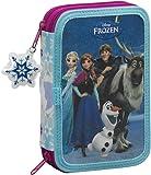 Frozen Friends Forever - Astuccio a 2 scomparti con 34pezzi, colore: blu