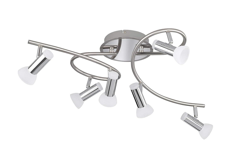 WOFI 4250.02.54.6000 A+ Spot, Metall, 4 W, Integriert, nickel matt/chrom, 11 x 11 x 13 cm [Energieklasse A+] WOFI Leuchten GmbH