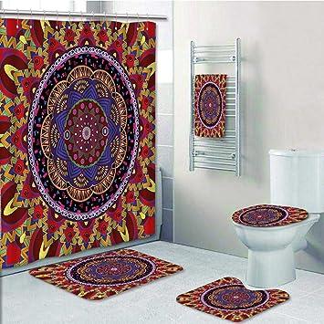 5 Tlg Badezimmer Set Runde Blume Bad Rahmen Design Klassischen Mit