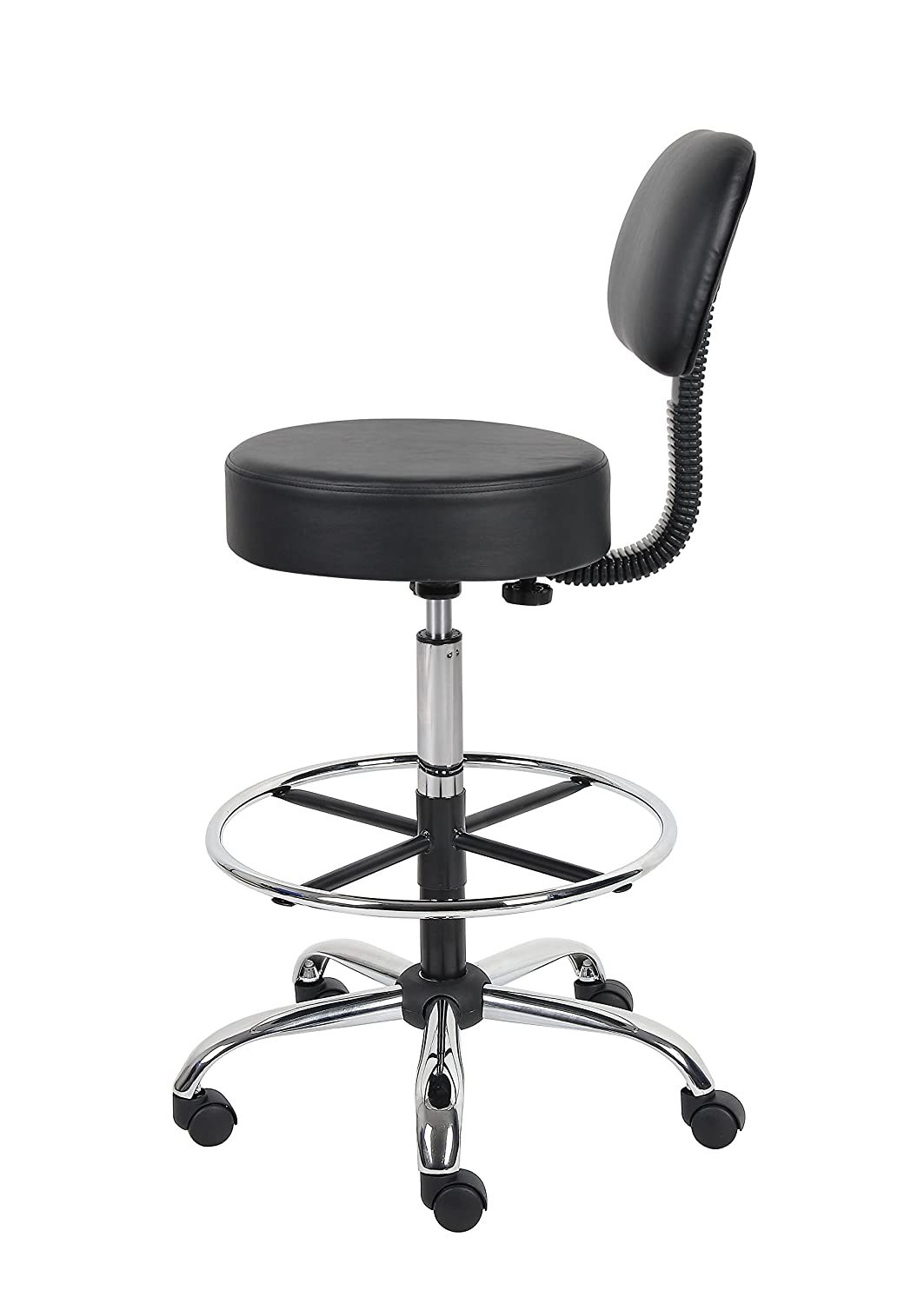 amazoncom boss office products bbk be well medical spa  - amazoncom boss office products bbk be well medical spa draftingstool with back black kitchen  dining