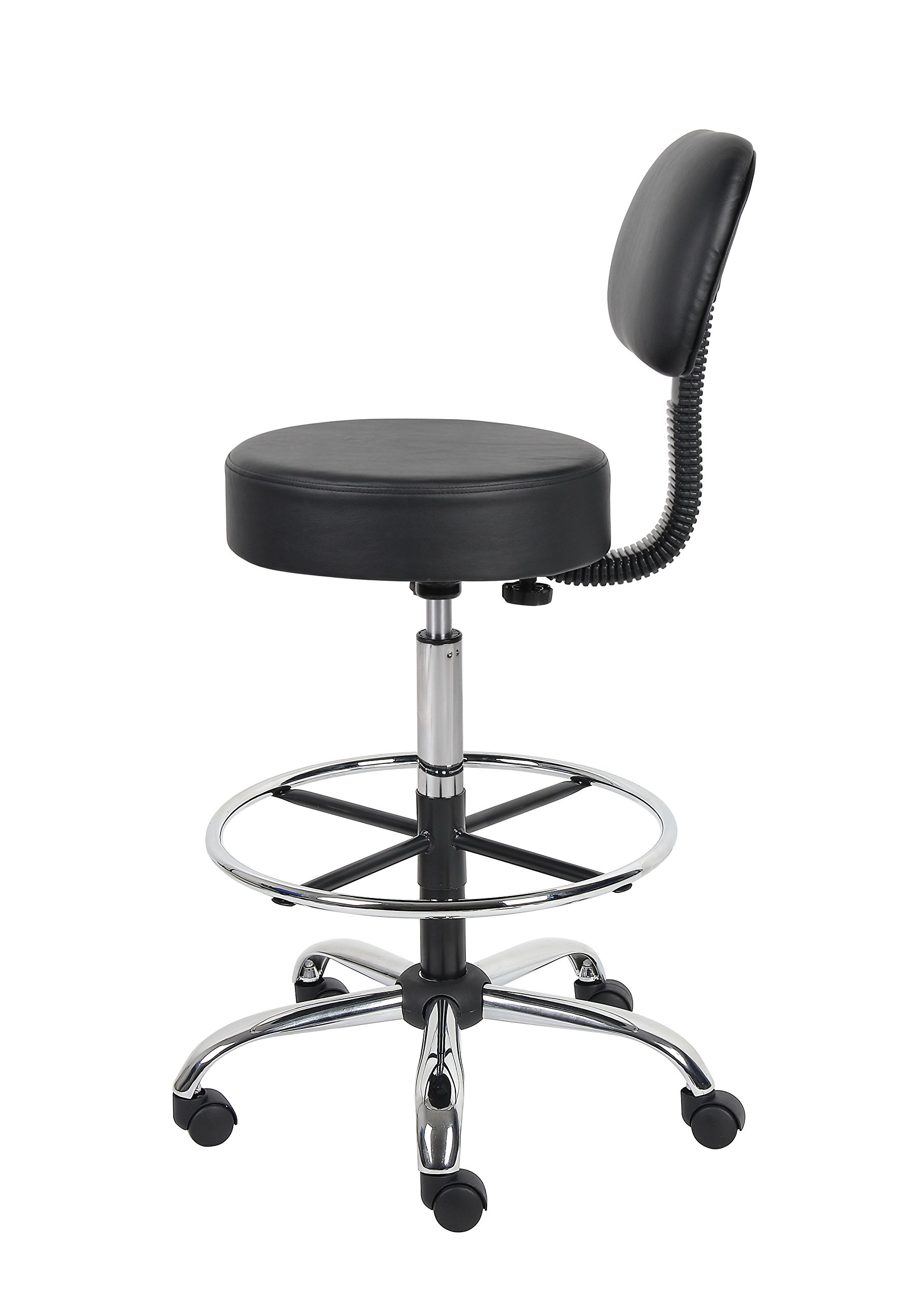 Boss Office Products B16245-BK Be Well Medical Spa Drafting Stool with Back,  Black by Boss Office Products (Image #6)