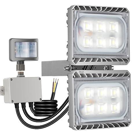 GOSUN® 60W Blanco Frío LED Foco Proyector Luz, Foco proyector con iluminación LED y