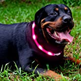 Led Dog Collar,USB Rechargeable,Glowing Pet Dog Collar Light for Night Walking Safety, Water Resistant Flashing Light Up Dog Necklace for Small,Medium,Large Dogs
