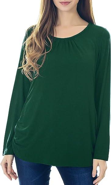 Smallshow Women/'s Maternity Nursing Tops Short Sleeve Modal Breastfeeding T Shirt