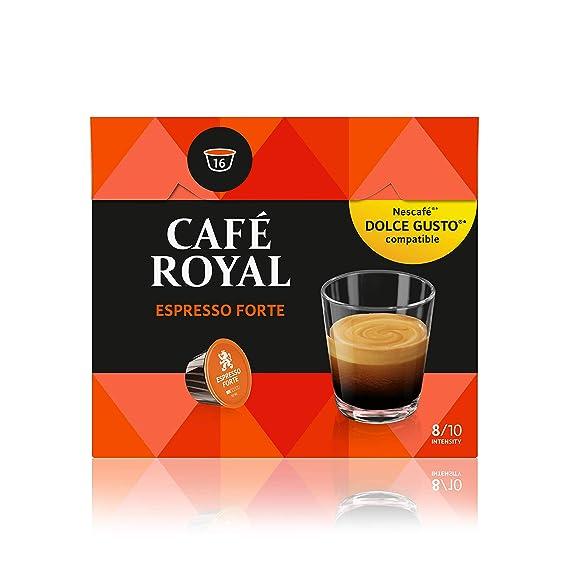 Café Royal Espresso Forte 48 cápsulas compatibles con Nescafé* Dolce Gusto* Intensidad: 8