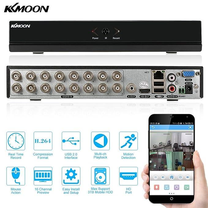 135 opinioni per KKmoon 16 Canali 960H D1 CCTV DVR Videoregistratore Digitale Network Standalone