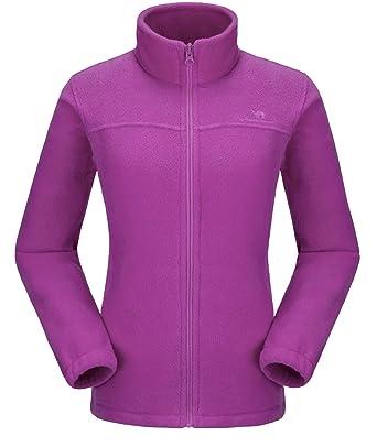 b61ab7f26 CAMEL CROWN Women Full Zip Fleece Jackets with Pockets Soft Polar Fleece  Coat Jacket Sweater for
