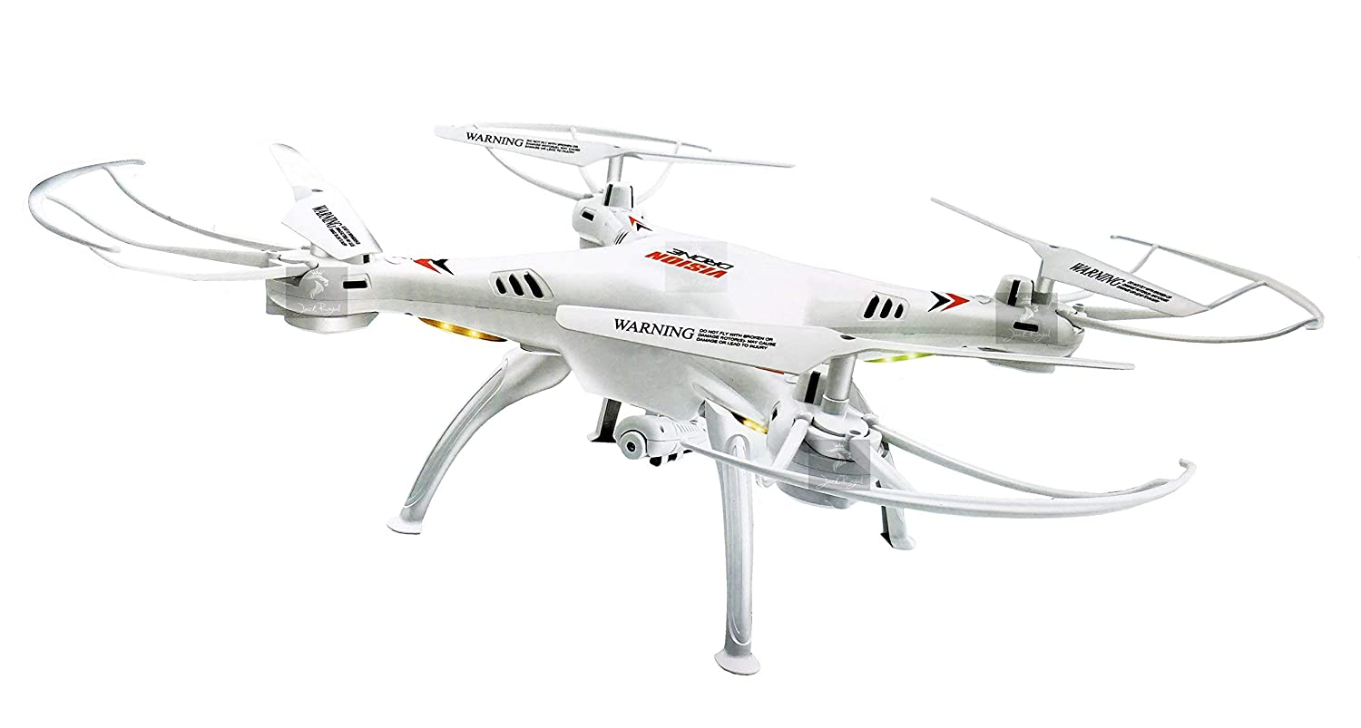 Jack Royal Drone With Camera And Headfree 360 Degree Eversion (White)