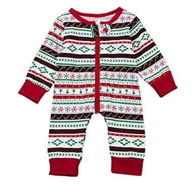 Nacome Newborn Infant Baby Boy Print Romper Jumpsuit Christmas Outfits Brother Clothes (Little Brother :