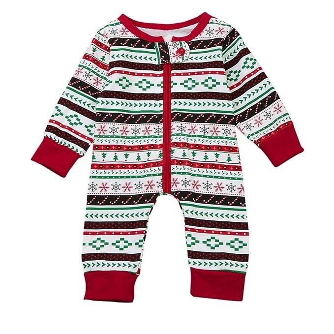 5de5e33e9 Navidad Bebe Pijamas Ropa SMARTLADY Recién nacido Bebé Niño Monos de Manga  larga (6-