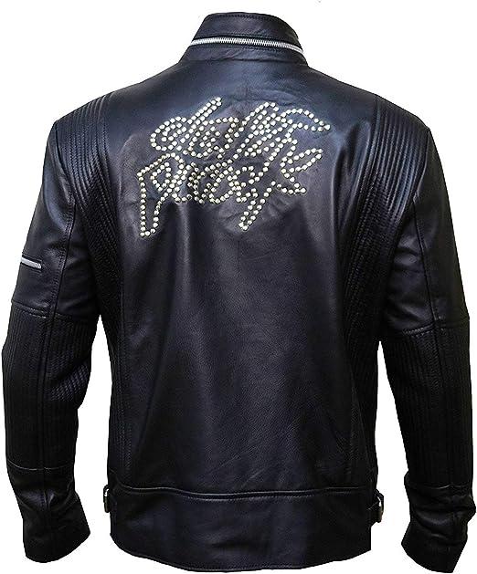 XXS to 5XL FaddyRox Daft Punk Electroma Hero Robot Rivet Sheep Leather Jacket