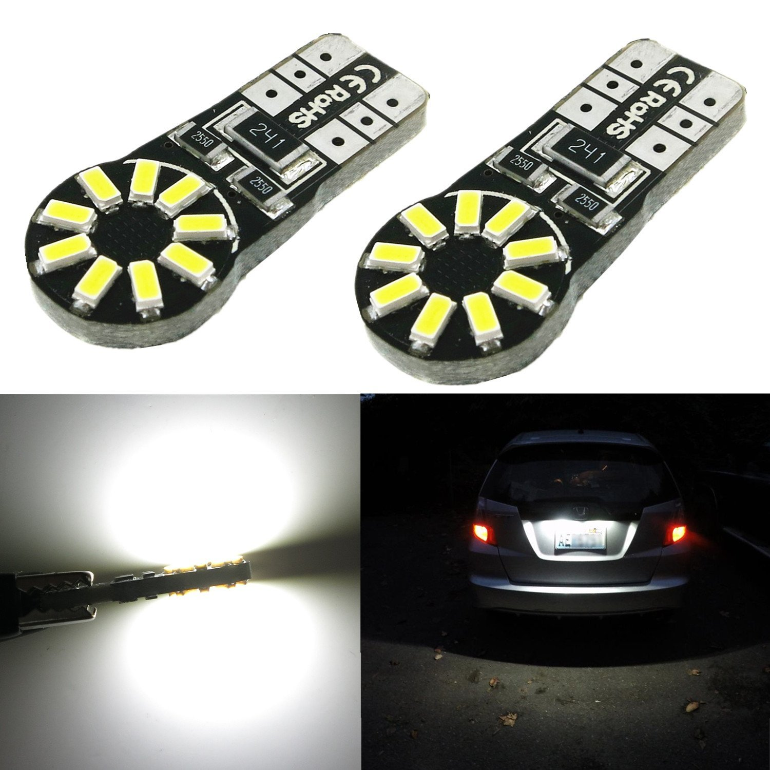 Alla Lighting 8000lm Xtremely Super Bright 6000K Xenon White High Power Mini LED Headlight Conversion Kits Lamps Replacement (T10)