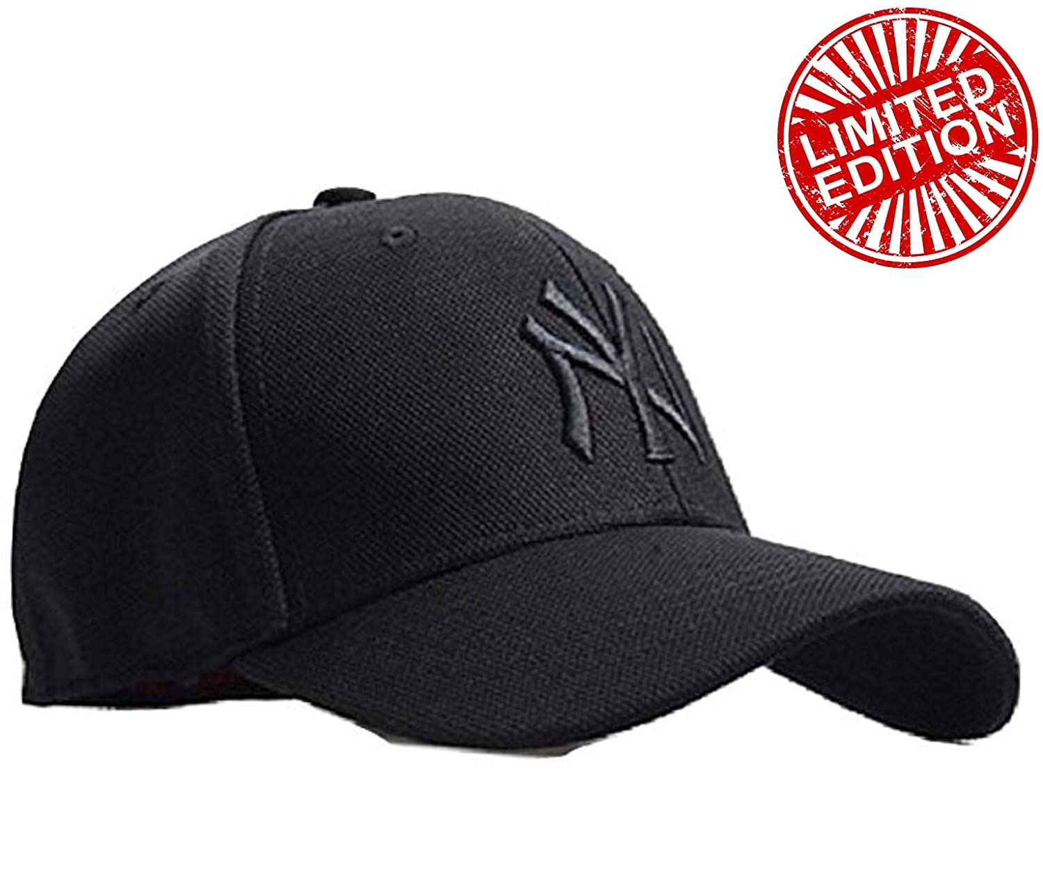 Buy MoohMaya Flexifit Stretchable Black NY Solid Caps for Men   Women for  Sports   Outdoor Online at Low Prices in India - Amazon.in 18dbc0831281