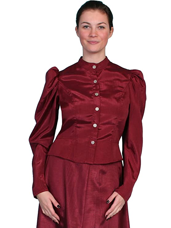 1890s-1900s Fashion, Clothing, Costumes Scully Wahmaker Womens Classic Old West Blouse - 738809-Nat $66.24 AT vintagedancer.com