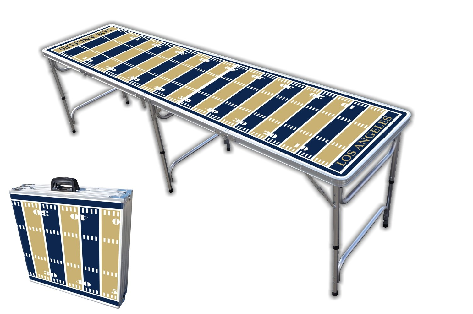8-Foot Professional Beer Pong Table - Los Angeles Football Field Graphic by PartyPongTables.com
