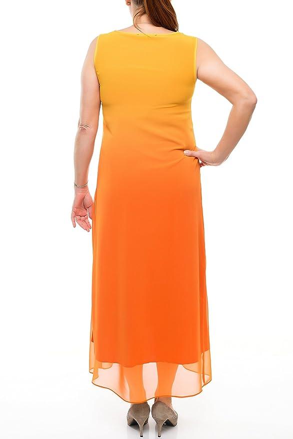 Damen Sommerkleid Leicht Luftig Sommerlich Kleid MAXI Ohne Arm auch Große  Größen, Strandkleid Beach Bunt Partykleid Tüll Übergrößen (50): Amazon.de:  ...
