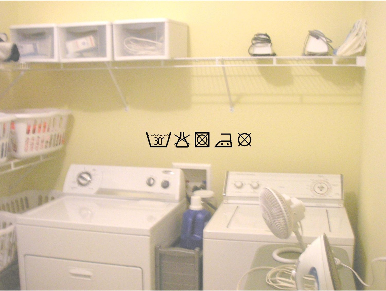Amazon.com: Laundry Symbols funny cute home vinyl wall quotes decals ...