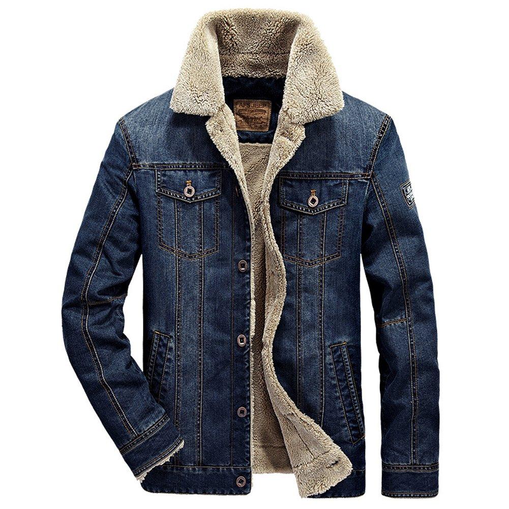 ICEGREY Men's Autumn Cowboy Long Sleeve Thicken Jacket Coat ICE-63J66009A