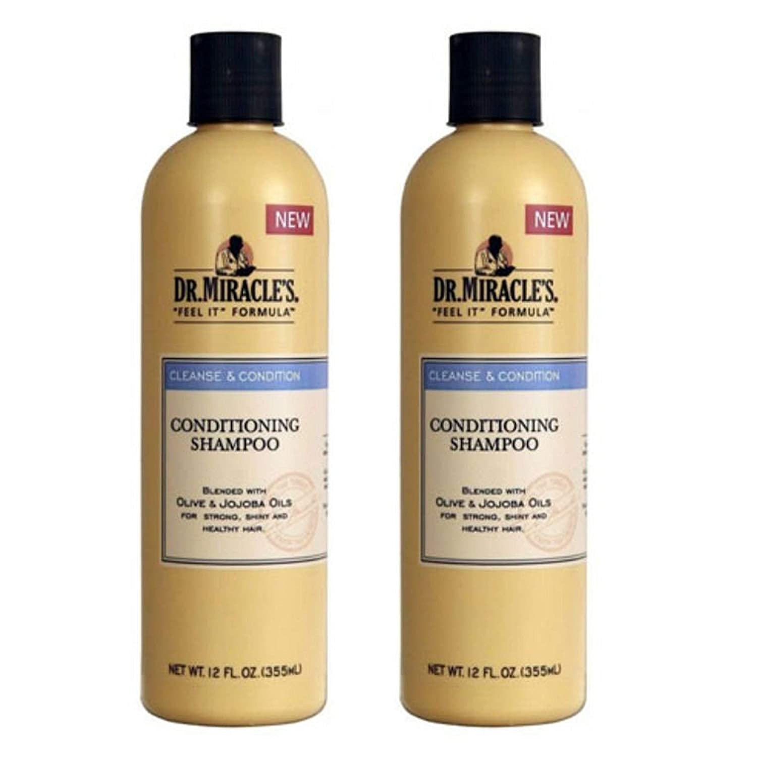 Dr. Miracles Cleanse & Condition Shampoo 12oz (2 Pack)