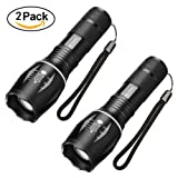 Amazon Price History for:Flashlights,SKYROKU 2 Pack LED Tactical Flashlight T6 Brightest LED Flashlight with 5 Modes Waterproof Flashlight for Biking Camping,2 YEARS warranty