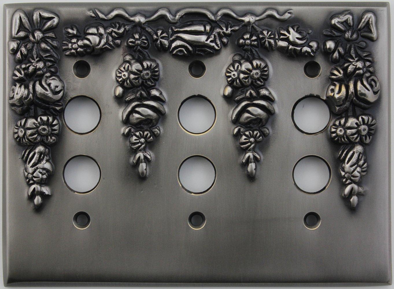 超人気 B00L7BD7VKクラシックアクセント装飾アンティークピューター3 Gangプッシュボタンライトスイッチ壁プレート B00L7BD7VK, 史上最も激安:b2a30450 --- svecha37.ru