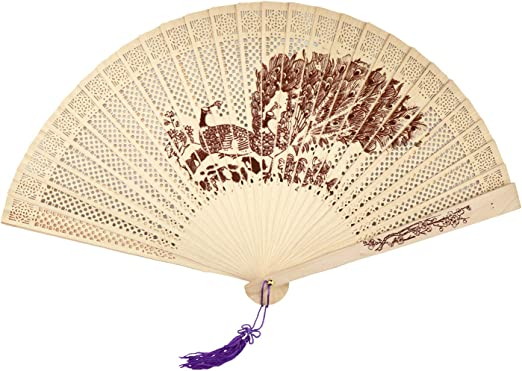 Great for hot days or wedding// party accessories. Foldable Paper fan