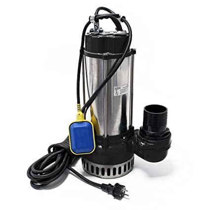 Bomba de aguas residuales V2200F con interruptor de flotador 42000l/h con 2200W