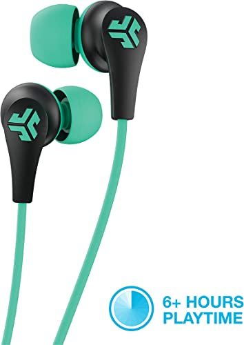 JLab Audio JBuds Pro Bluetooth Wireless Signature Earbuds Titanium 10mm Drivers 6-Hour Battery Life Music Controls Noise Isolation Bluetooth 4.1 Extra Gel Tips and Cush Fins Graphite Teal