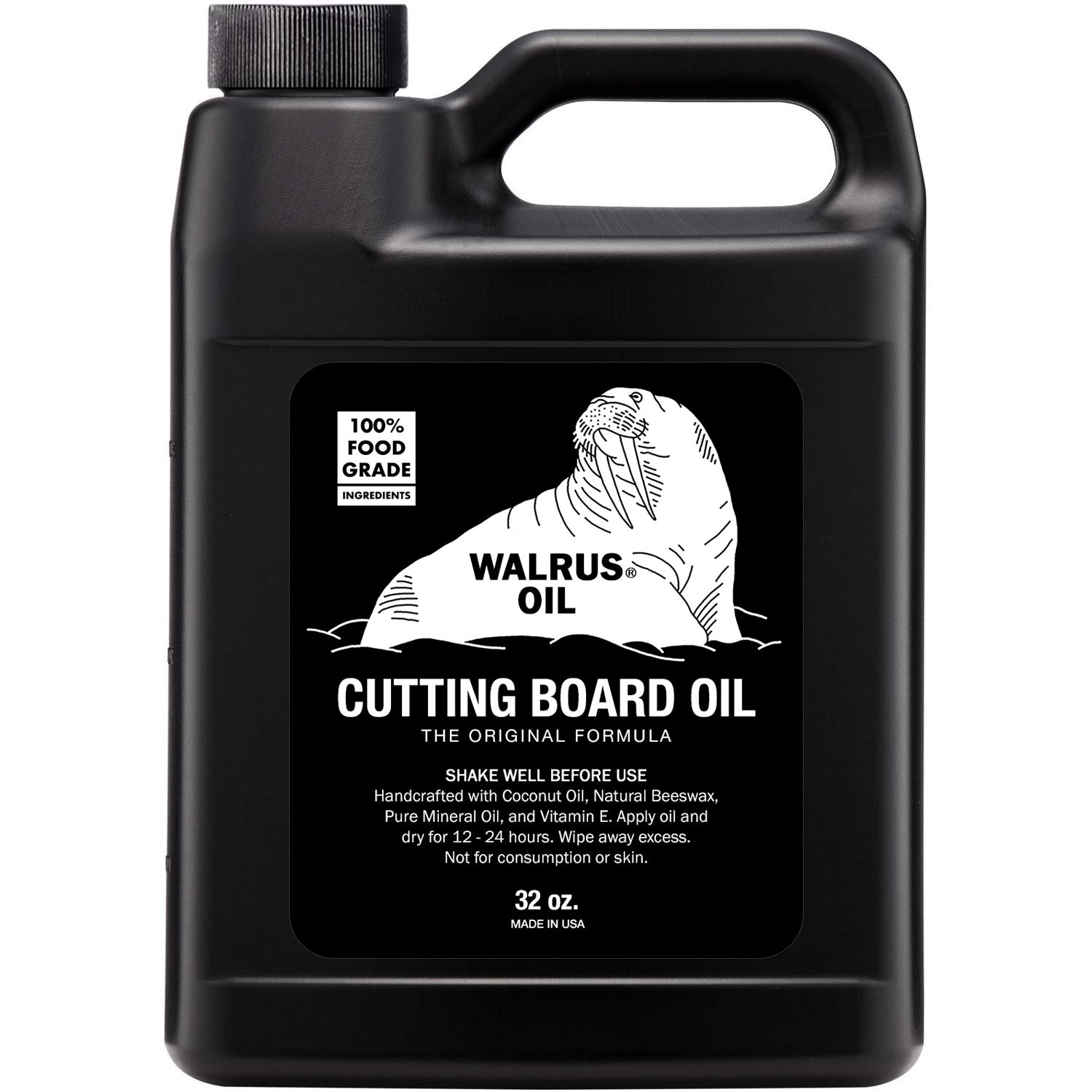 WALRUS OIL - Cutting Board Oil and Wood Butcher Block Oil, 32 oz Jug, Food-Safe by Walrus Oil