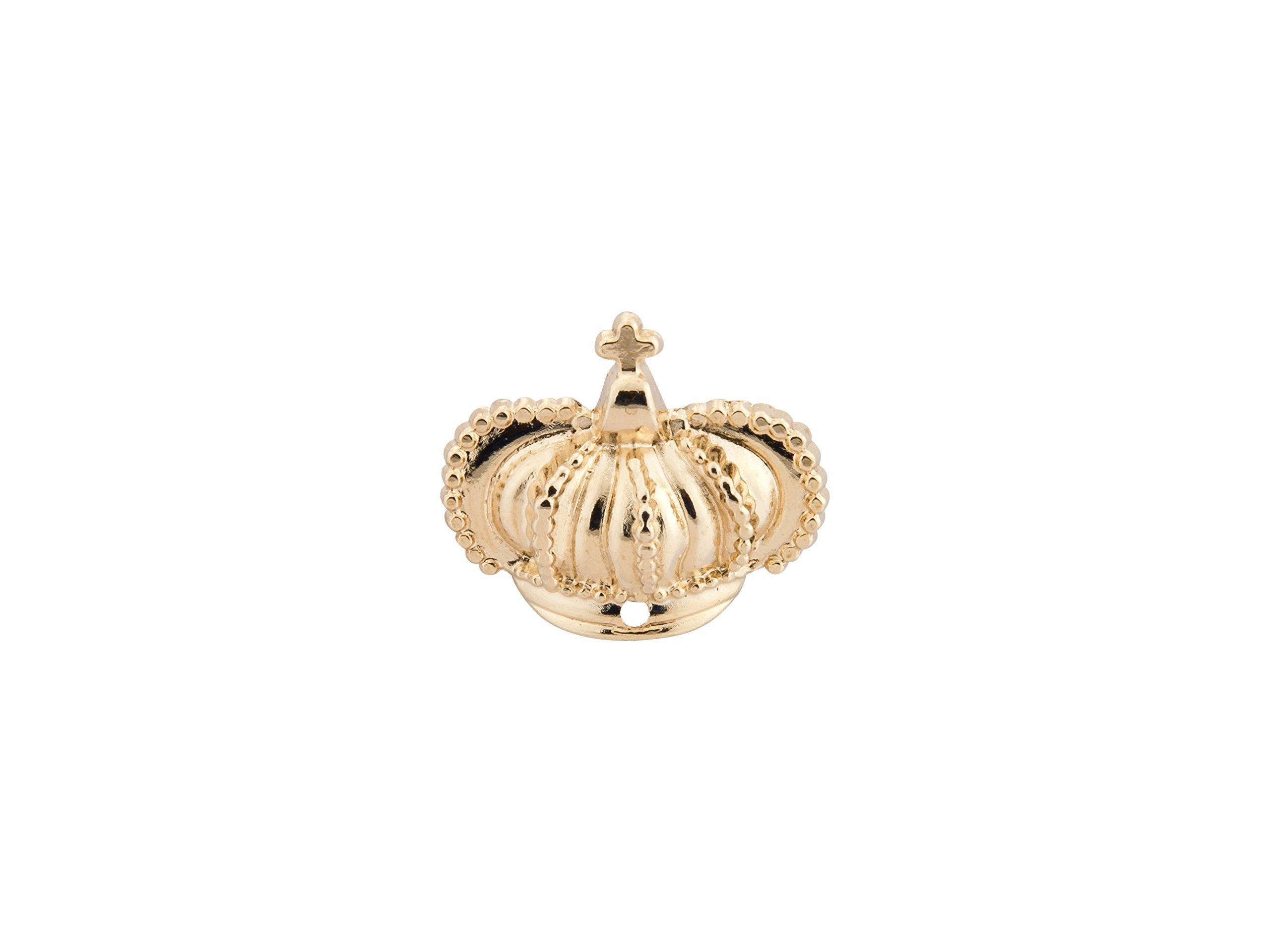 KNIGHTHOOD Men's Golden Crown Lapel Pin Men Golden