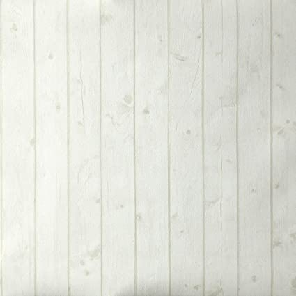 Wood Effect Wallpaper White Dirt Boiserie Slightly Textured. Oh La ...