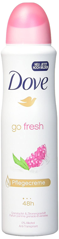 Dove Go Fresh Pomegranate & Lemon Verbena Antiperspirant Spray Deodorant For Women 150ml=5.07oz