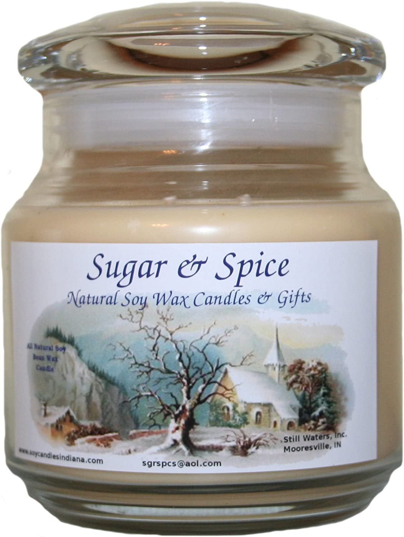 Sugar & Spice Natural Soy Wax Candles 16 Ounce (Gourmet Vanilla)