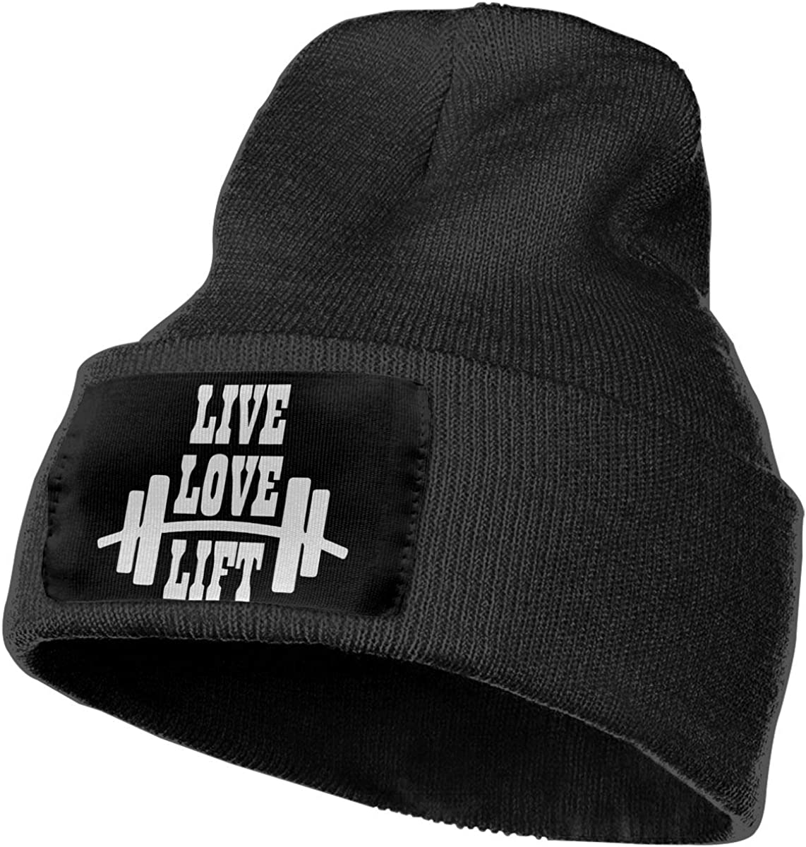 Live Love Lift Warm Skull Cap Unisex 100/% Acrylic Knitted Hat Cap