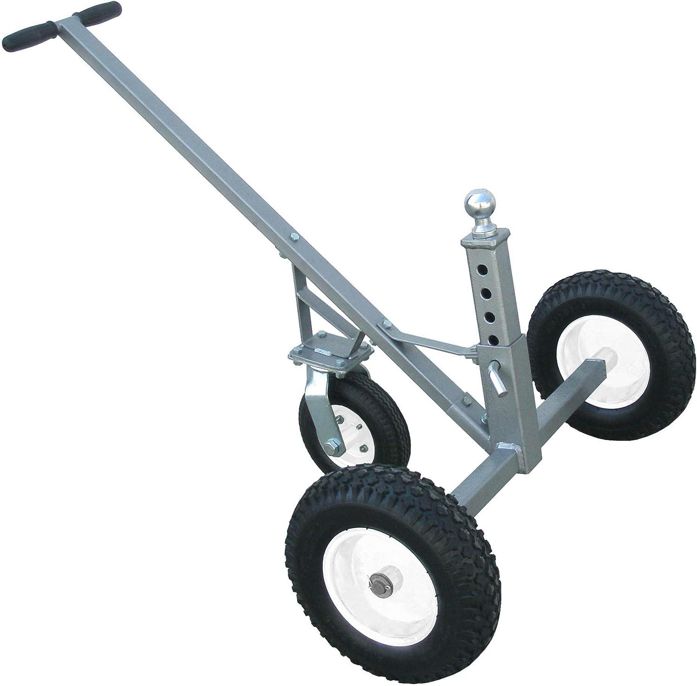 拖凝灰岩可调拖车与脚轮