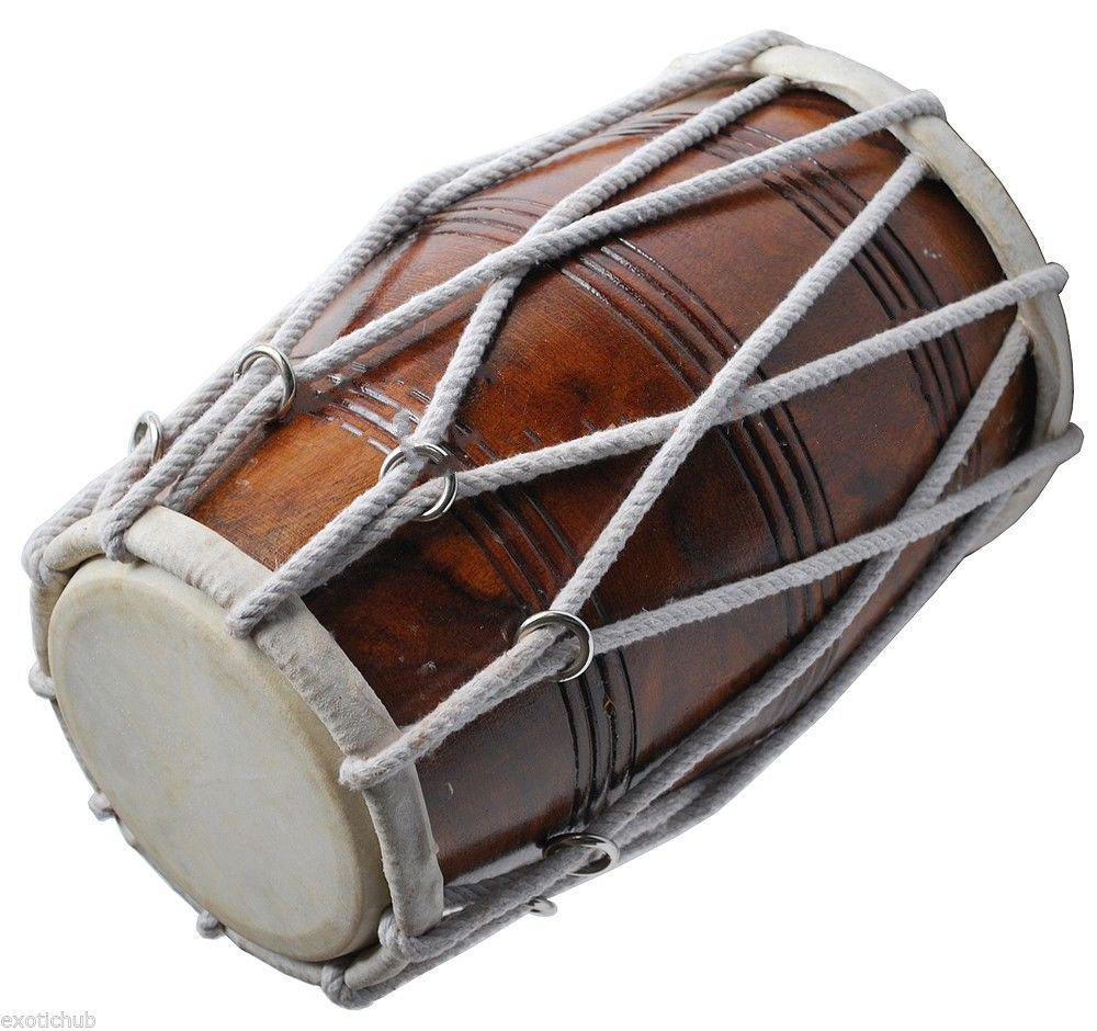 PROFESSIONAL QUALITY DHOLAK DRUM~HAND MADE INDIAN~SHESHAM WOOD & SPECIAL SKIN by SAI MUSICAL