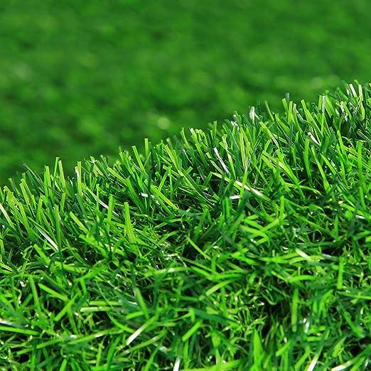 WJ Simulación Césped Césped Artificial Plástico Artificial Césped Falso Balcón Jardín de Infantes Techo Alfombra Verde Decoración, Alto Ornamental (Color : T 2.5cm, Size : 2 * 1m): Amazon.es: Jardín