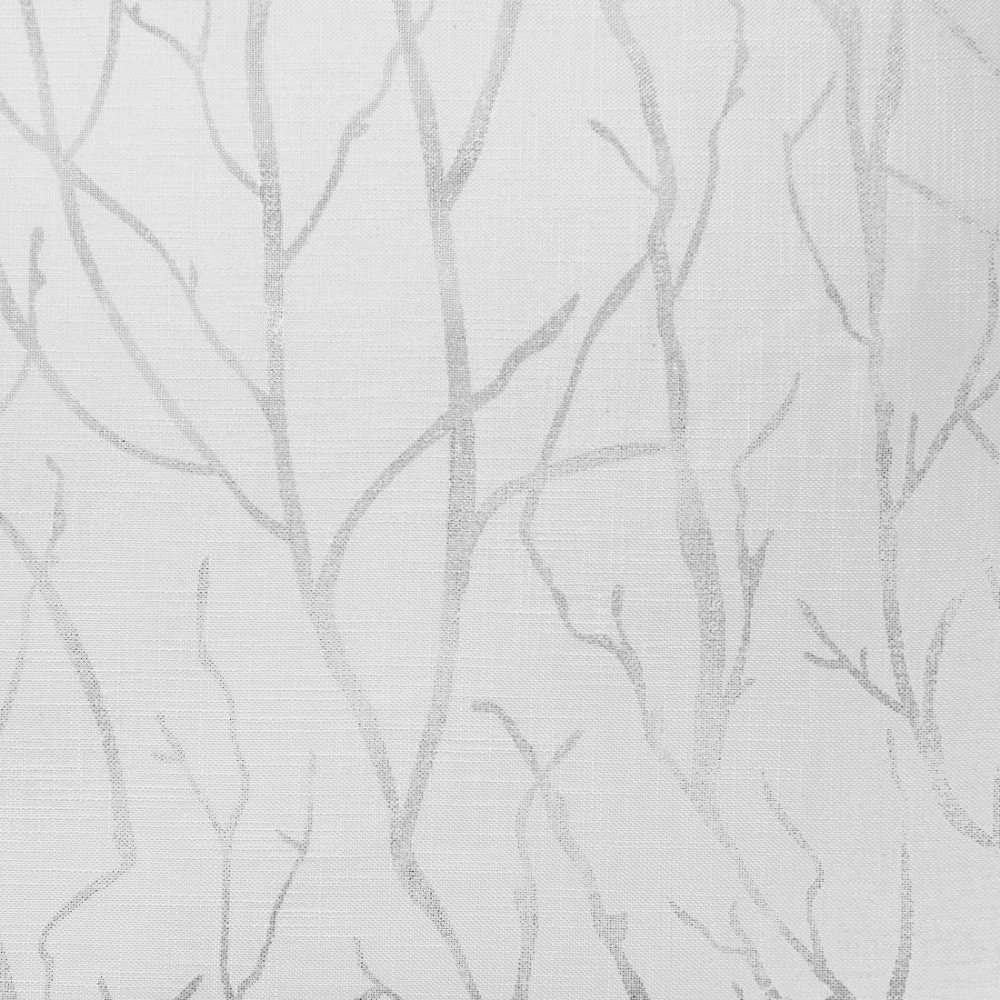 Exclusive Home Curtains Woodland Printed Metallic Branch Sheer Textured Linen Window Curtain Panel Pair with Grommet Top, 54×84, Winter Silver, 2 Piece