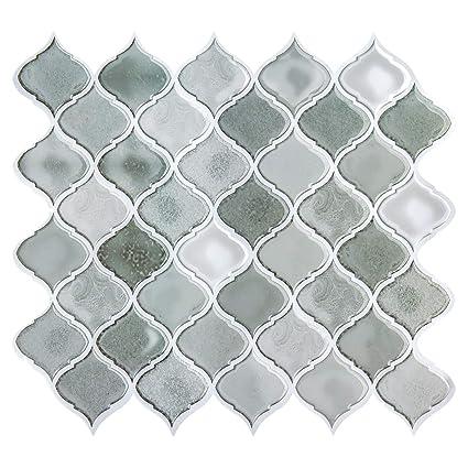 Grey Peel And Stick Tile Backsplash For Kitchen Mexcian Stick On Tiles For Backsplash Decorative Wall Tiles Smart Tiles Peel And Stick Backsplash