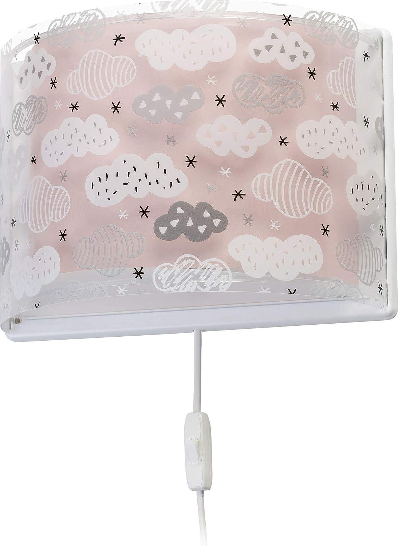 Dalber kinder Wandlampe Wolken, Clouds Rosa, Polypropylen, 60 W Weiß 1070lm