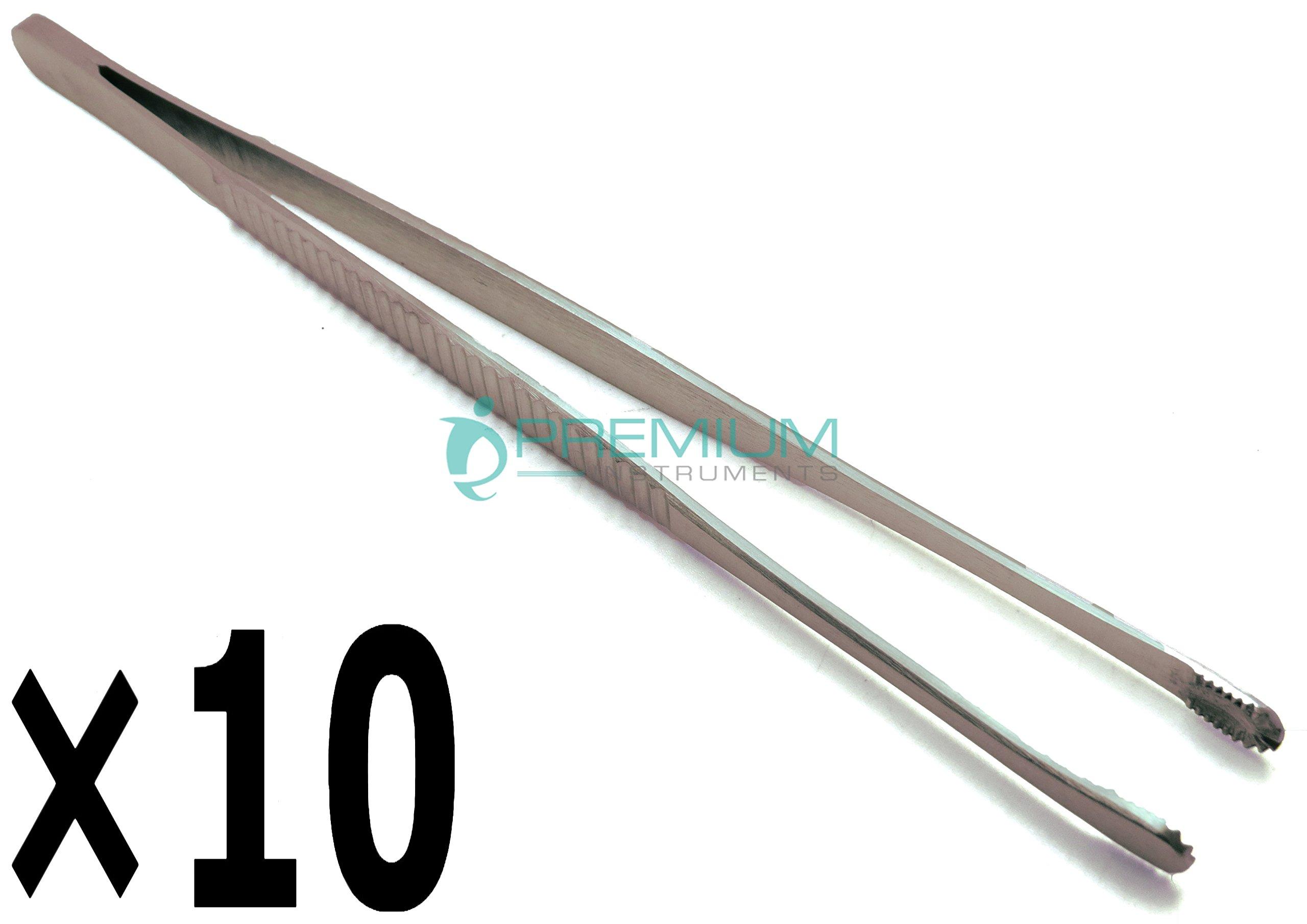10× Dental Russian Tissue Forceps 8'' Surgical Premium Instruments