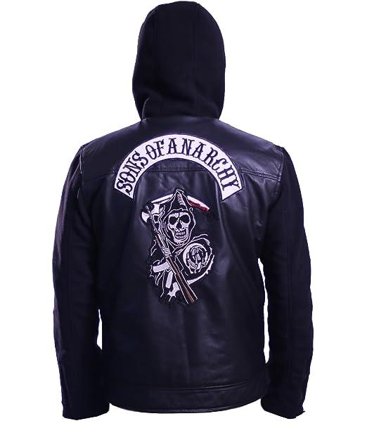 Premium Leather Garments De Hijos de la anarquía Negro con ...