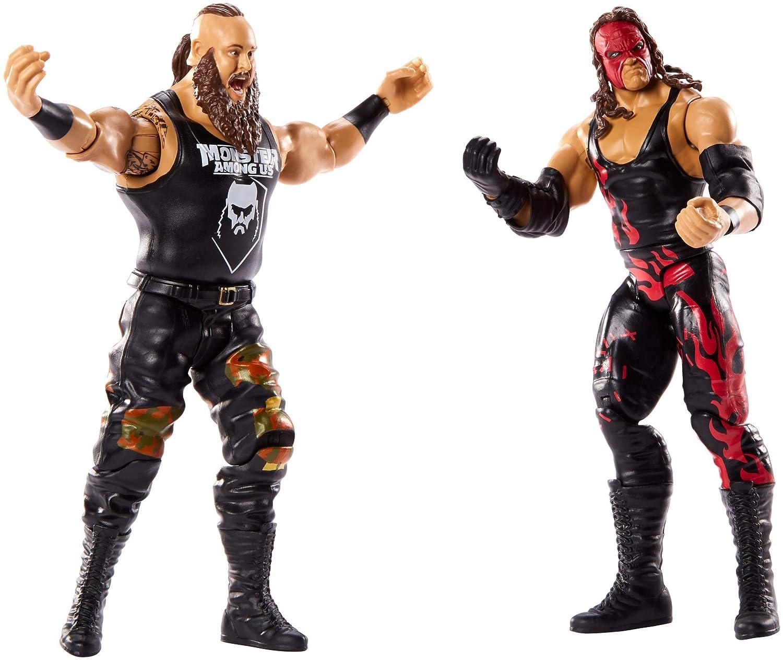 Multicolor GBN56 Mattel WWE-Pack de 2 Figuras de acci/ón Luchadores Braun Strowman vs Kane
