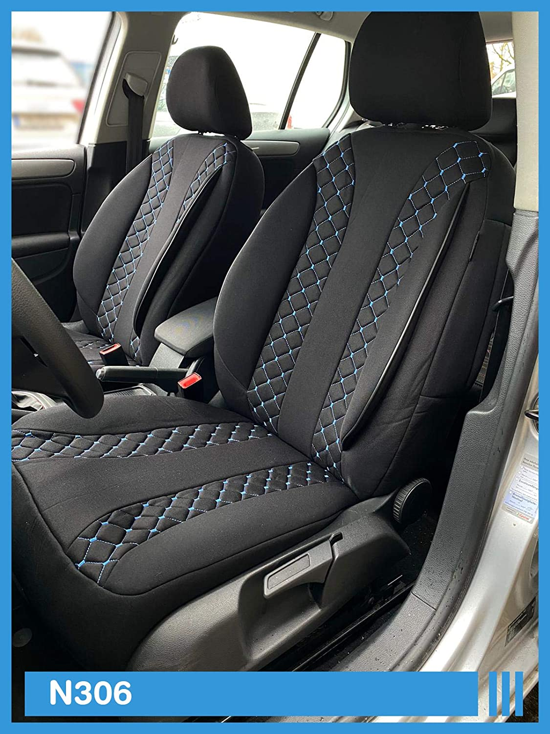 Dimensions seat Covers Compatible with Nissan X-Trail T32 Driver and Passenger from 2014 FB:N306