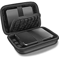 ProCase Hard EVA Drive Case 2.5 Inch for Western Digital Elements WD My Passport Canvio Basics Seagate Backup Plus Slim Expansion 1TB 2TB 3TB 4TB USB 3.0, Portable External Carrying Case -Black